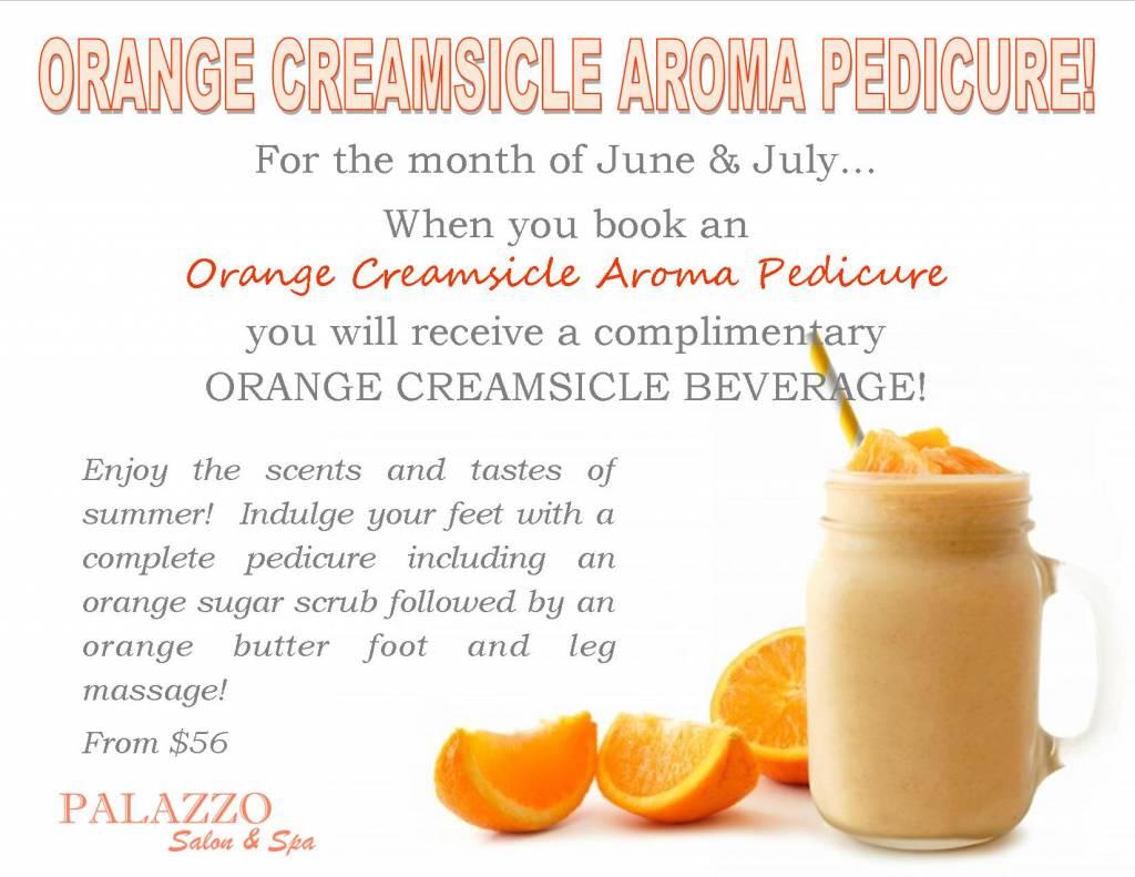 Orange Creamsicle Aroma Pedicure