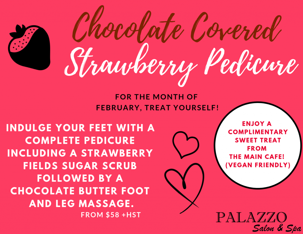 Chocolate Covered Strawberry Pedicure