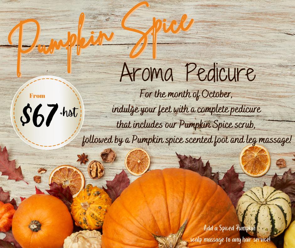 Pumpkin Spice Aroma Pedi 2021
